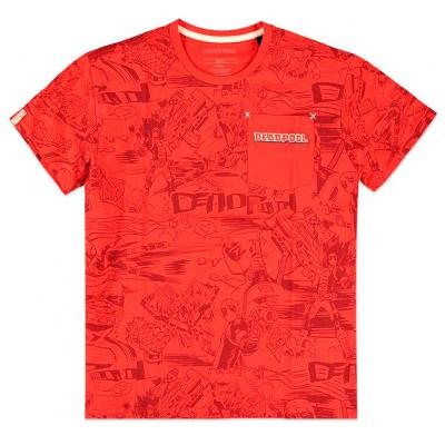 Camiseta All Over Deadpool Marvel - Imagen 1