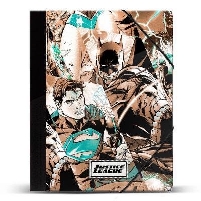 Carpeta A4 Liga de la Justicia DC Comics gomas - Imagen 1