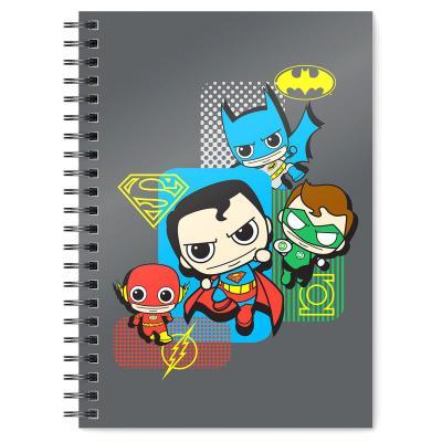 Cuaderno A5 Liga de la Justicia Chibi DC Comics - Imagen 1