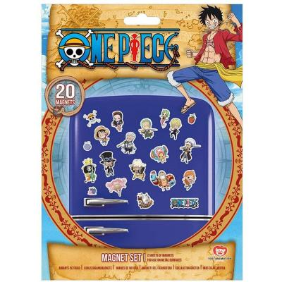 Set 20 imanes chibi One Piece - Imagen 1