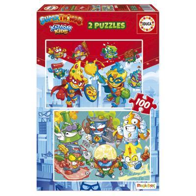 Puzzle Superzings 2x100pzs - Imagen 1