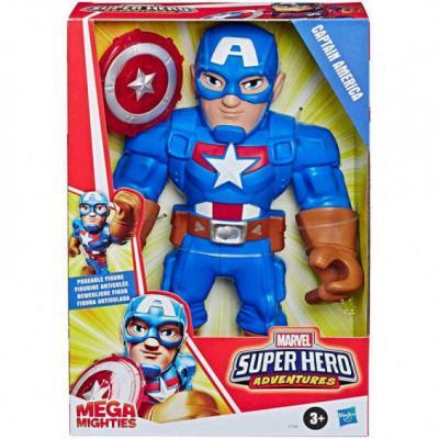 Figura Mega Mighties Capitan America Marvel 25cm - Imagen 1