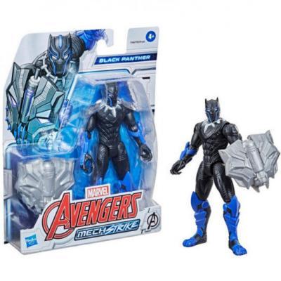 Figura Mech Strike Black Panther Avengers Marvel 15cm - Imagen 1