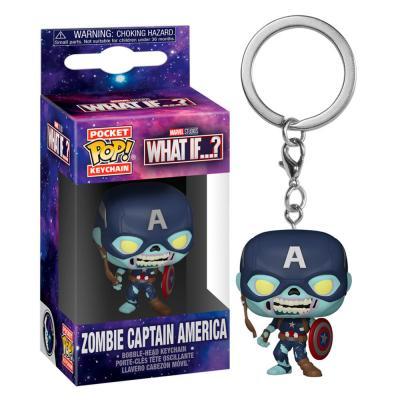 Llavero Pocket POP Marvel What If Zombie Captain America - Imagen 1