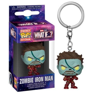 Llavero Pocket POP Marvel What If Zombie Iron Man - Imagen 1