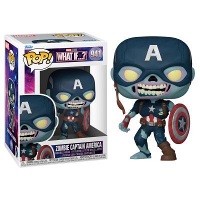 Figura POP Marvel What If Zombie Captain America - Imagen 1