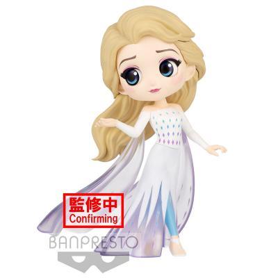 Figura Elsa Frozen 2 Disney Characters Q posket 14cm - Imagen 1
