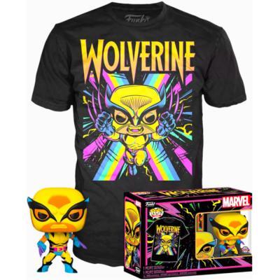 Set figura POP & Tee Marvel Wolverine Black Light - Imagen 1