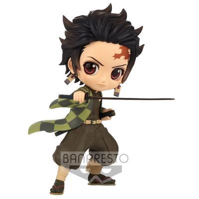 Figura Tanjiro Kamado Demon Slayer Kitmesu No Yaiba Q posket 14cm - Imagen 1