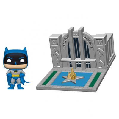 Figura POP DC Comics Batman 80th Hall of Justice with Batman - Imagen 1