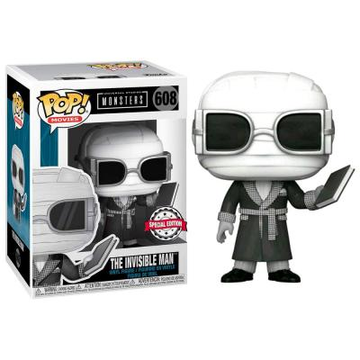 Figura POP Universal Monsters Invisible Man Black and White Exclusive - Imagen 1