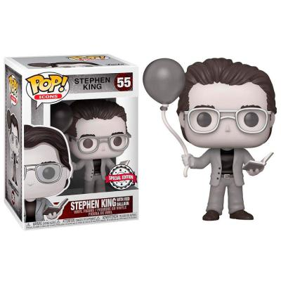 Figura POP Stephen King with Red Balloon Black and White Exclusive - Imagen 1
