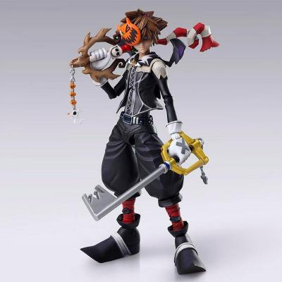 Figura Sora Halloween Town Ver. Kingdom Hearts II Bring Arts Disney 15cm - Imagen 1