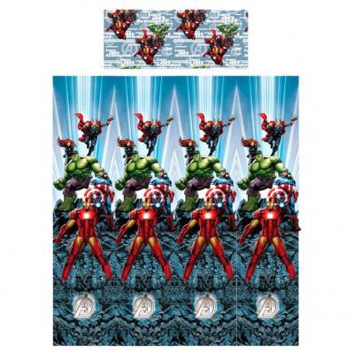 Juego sabanas Vengadores Avengers Marvel 105cm algodon - Imagen 1