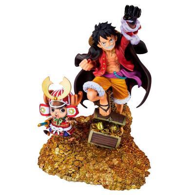 Estatua FiguartsZERO Monkey D. Luffy by Eiichiro Oda WT100 Daikaizoku Hyakkei One Piece 19cm - Imagen 1
