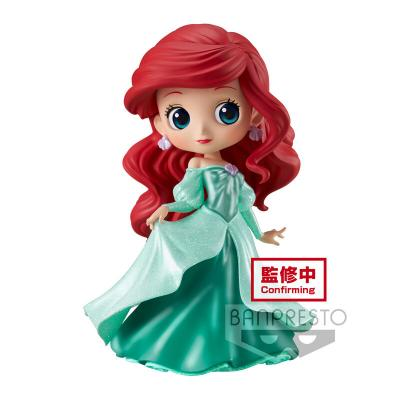 Figura Ariel Princess Dress Glitter Line Disney Characters Q posket 14cm - Imagen 1