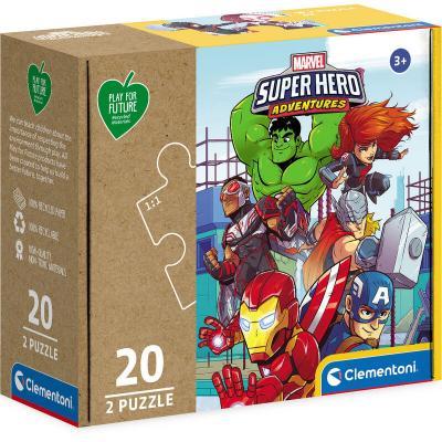 Puzzle Super Heroes Marvel 2x20pzs - Imagen 1