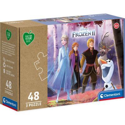 Puzzle Frozen 2 Disney 3x48pzs - Imagen 1