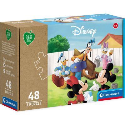Puzzle Mickey Mouse Disney 3x48pzs - Imagen 1
