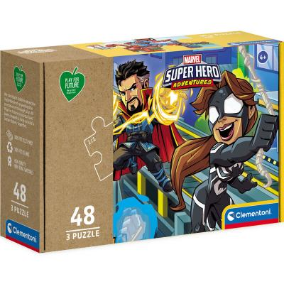 Puzzle Super Heroes Marvel 3x48pzs - Imagen 1
